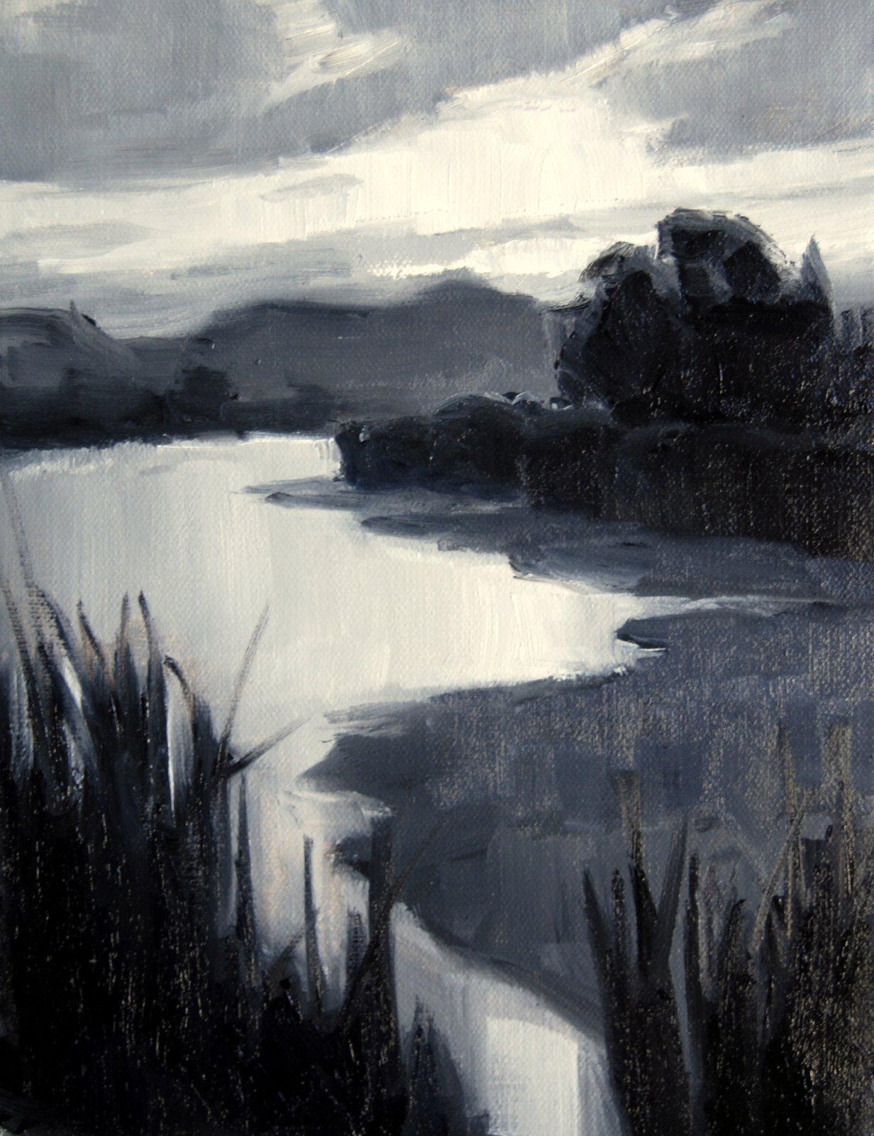 """""""Sunrise over the Rio Grande"""" original fine art by Julie Ford Oliver"""