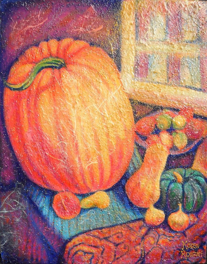 """Market Day"" original fine art by Karen Roncari"