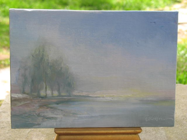 """High Key - gesso board oil painting"" original fine art by Brenda Kollman"