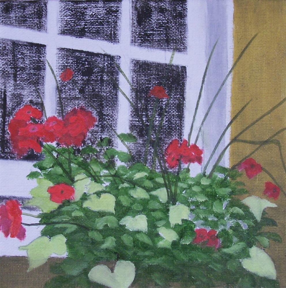 """Hearts and Flowers"" original fine art by John Marcum"
