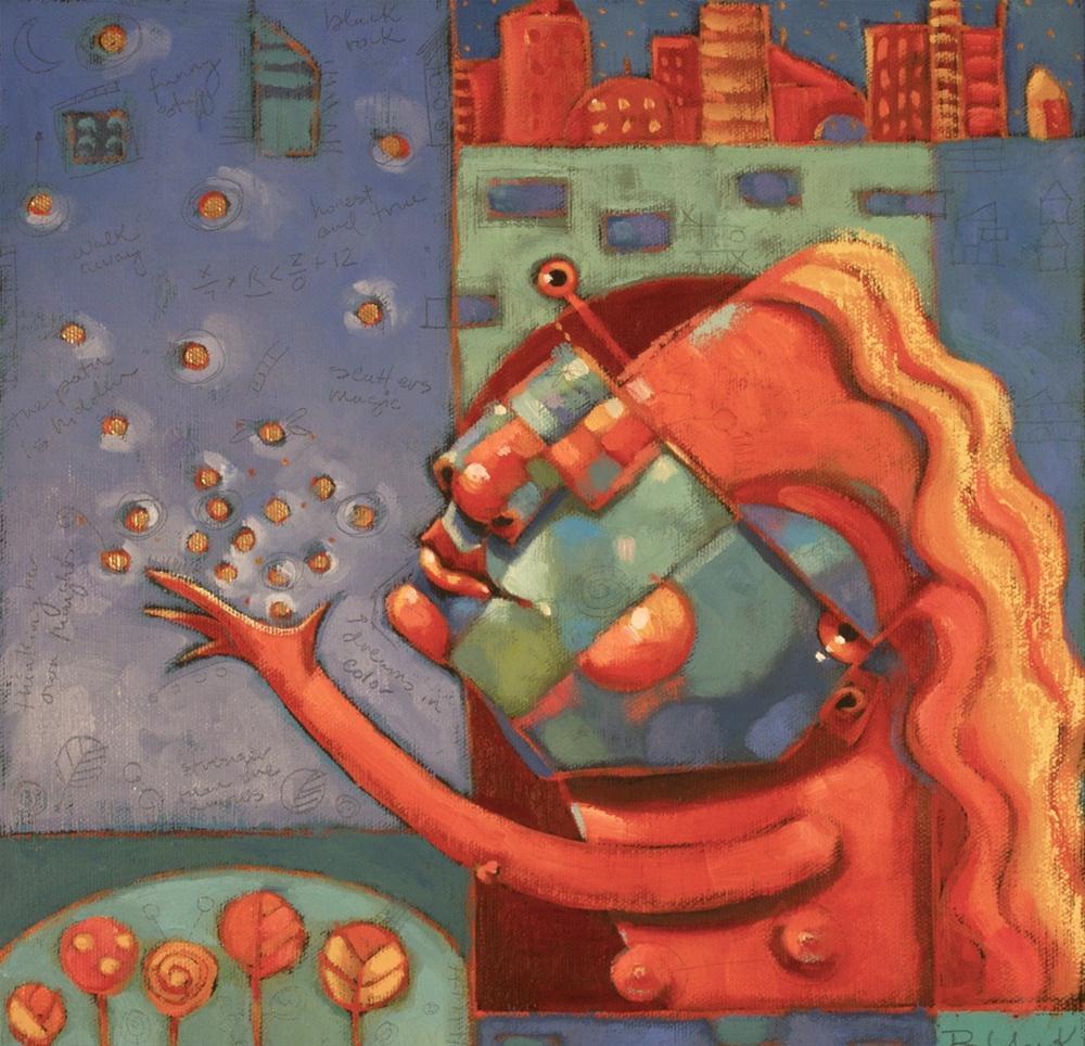 """""""Lovely Rita Scatters Her Magic"""" original fine art by Brenda York"""