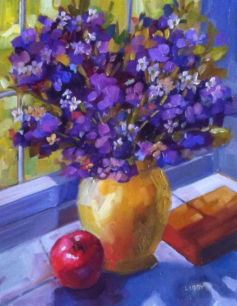 """Desktop Vase"" original fine art by Libby Anderson"
