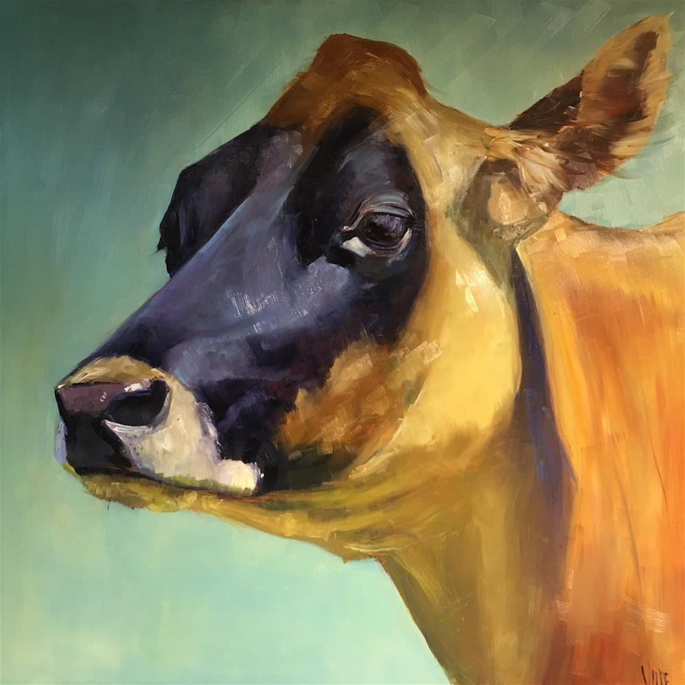 """""""Jersey Girll"""" original fine art by Patty Voje"""