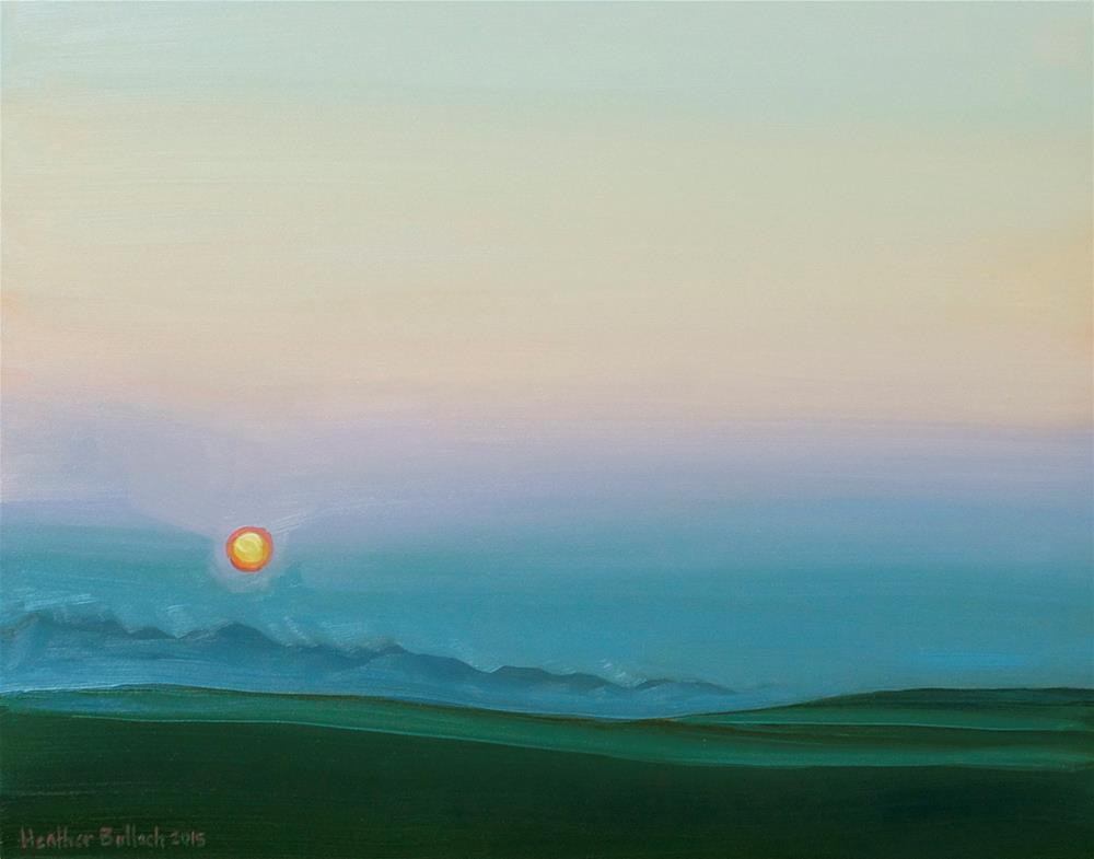 """""""Summer Haze"""" original fine art by Heather Bullach"""