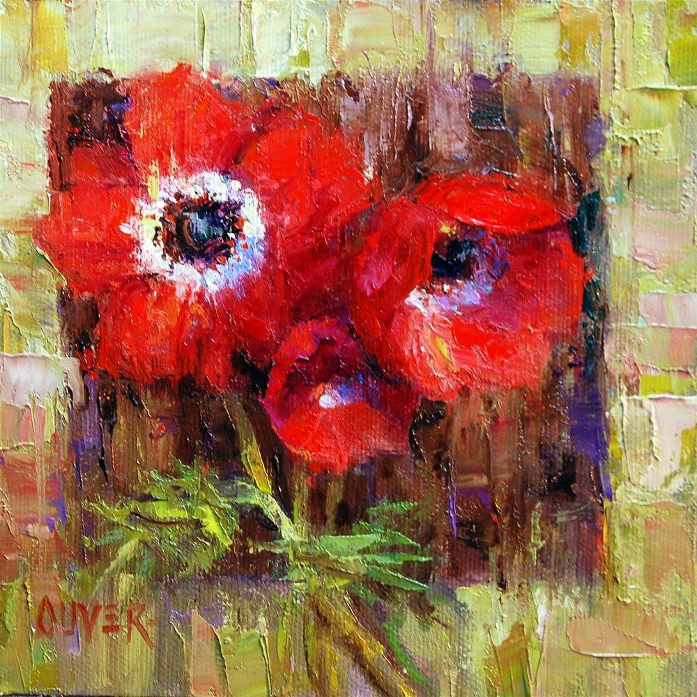 """""""anemones"""" original fine art by Julie Ford Oliver"""