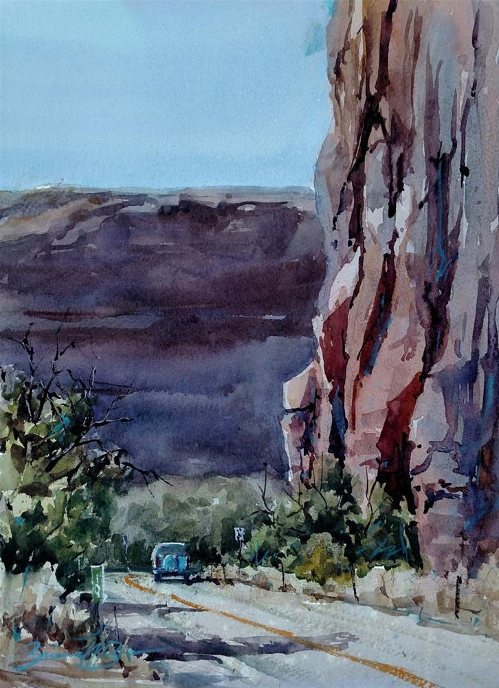 """Potash Drive"" original fine art by Brienne M Brown"