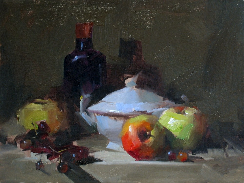 """""""Demo at Melbourne 1_2012 --- Sold"""" original fine art by Qiang Huang"""