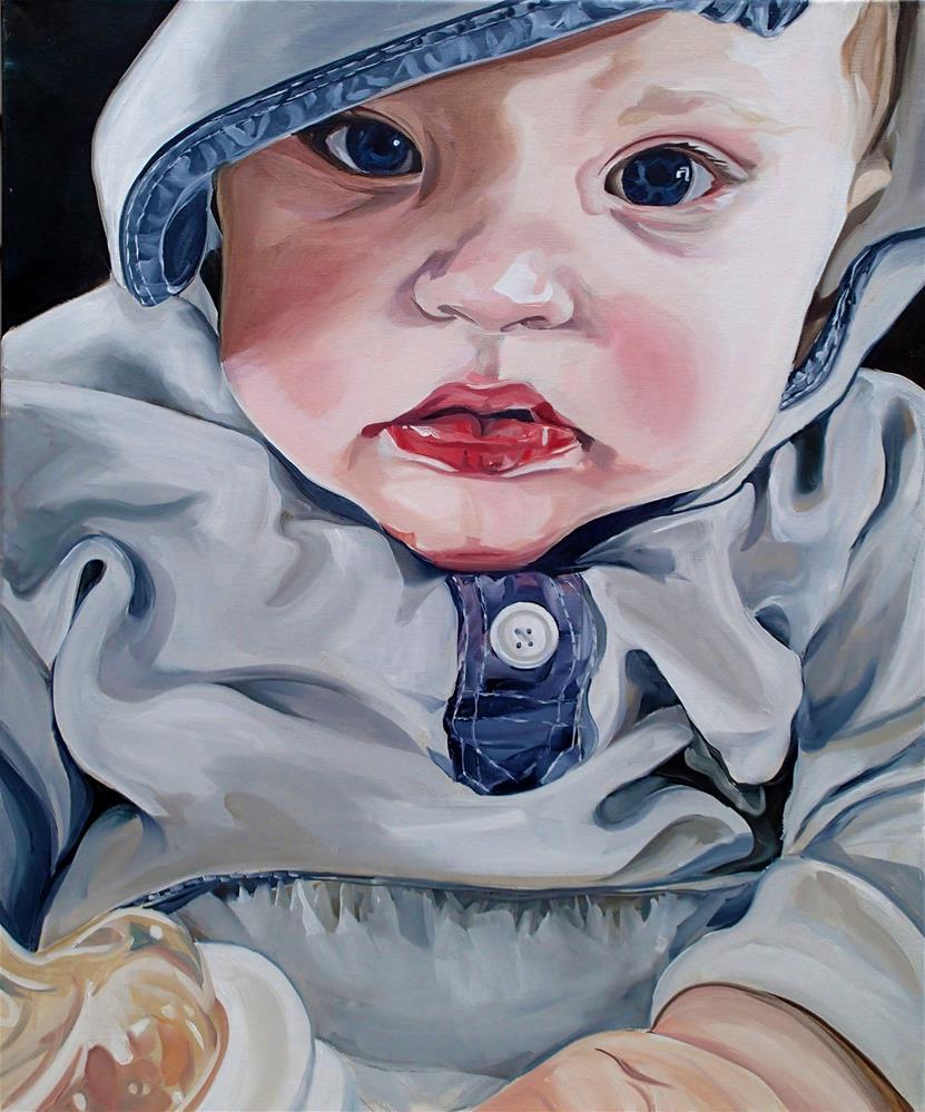 """My nephew, my muse"" original fine art by Lauren Kuhn"