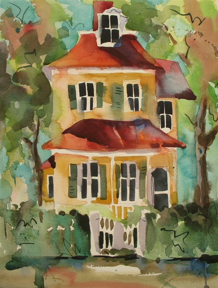 """Cape May Cottage"" original fine art by Jinnie May"