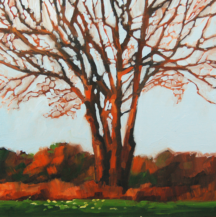 """No 406 The Begining of Fall"" original fine art by Robin J Mitchell"