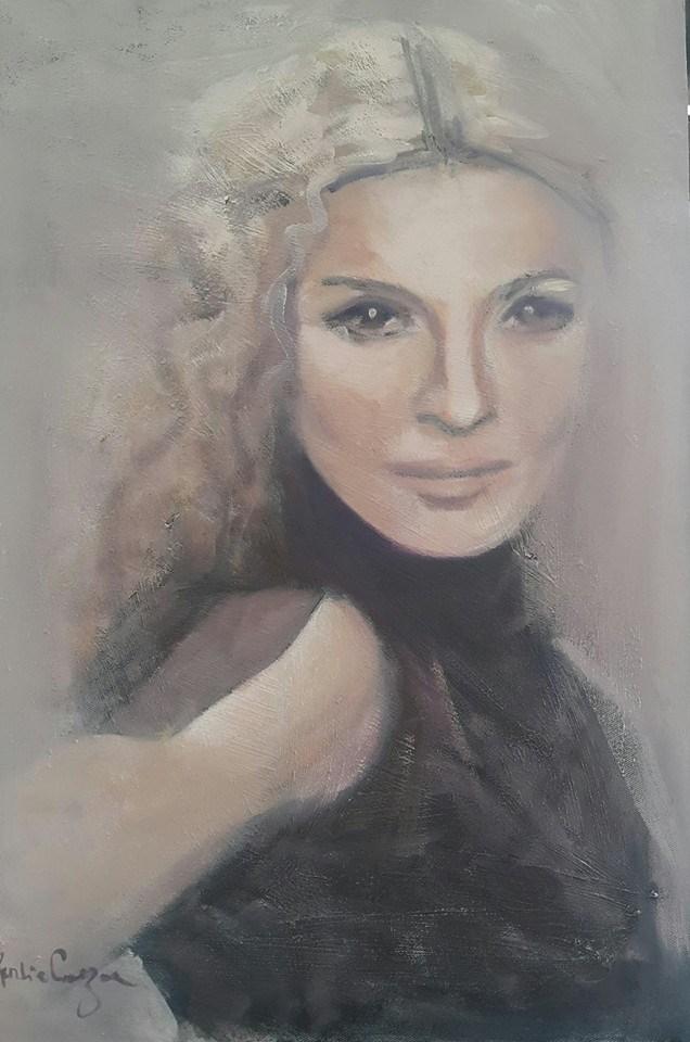 """Lavender girl"" original fine art by Rentia Coetzee"