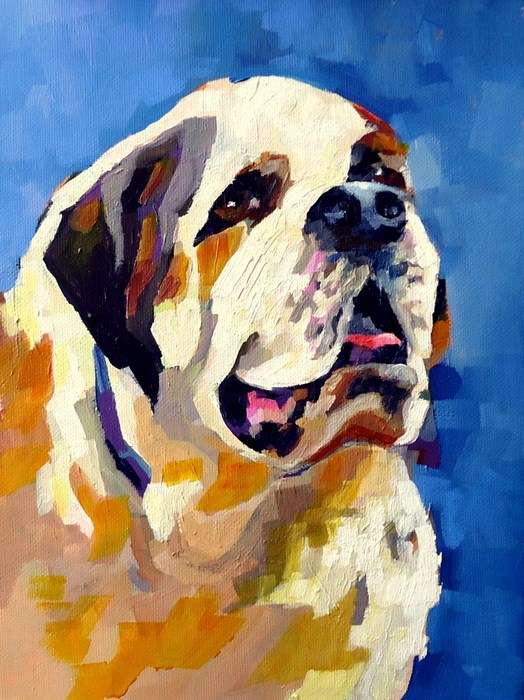 """""""You Know Who"""" original fine art by Laurie Mueller"""