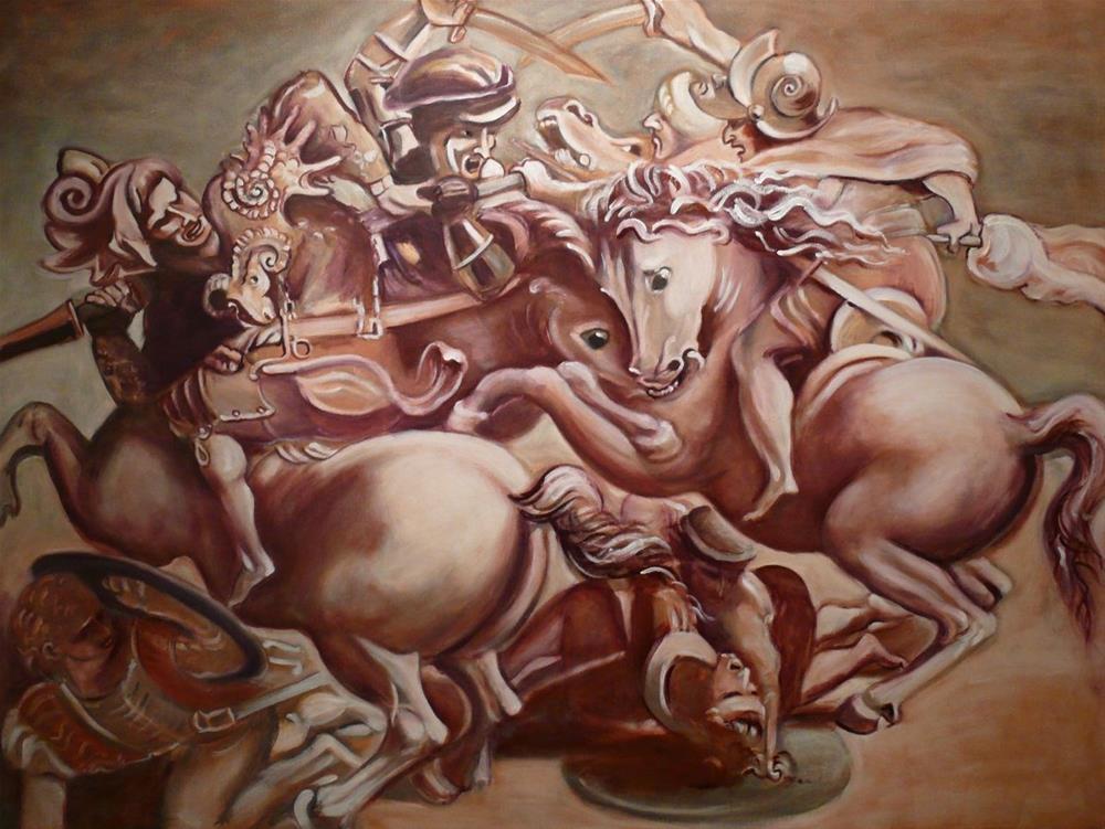 """""""Lost Battle (Work in Progress)"""" original fine art by Darlene Young"""