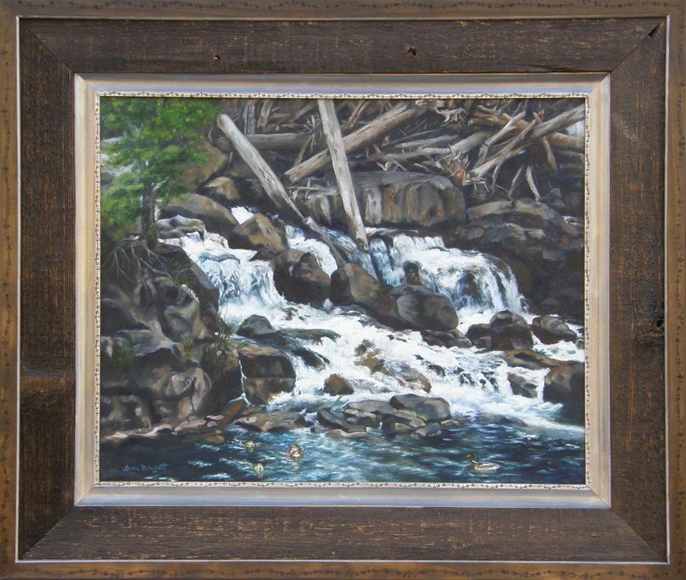 """Picnic at the Falls"" original fine art by Lori Brackett"