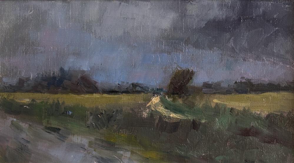 """Dark Sky on the Bognor Road"" original fine art by Andre Pallat"