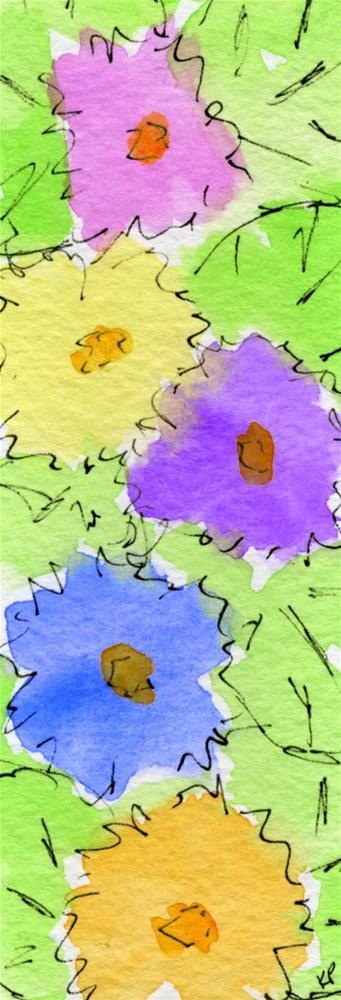 """Flower Totem"" original fine art by Kali Parsons"