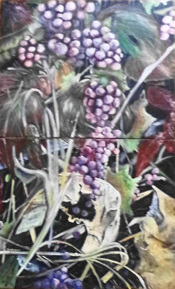 """""""Grapes Panel one and Two """" original fine art by tara stephanos"""