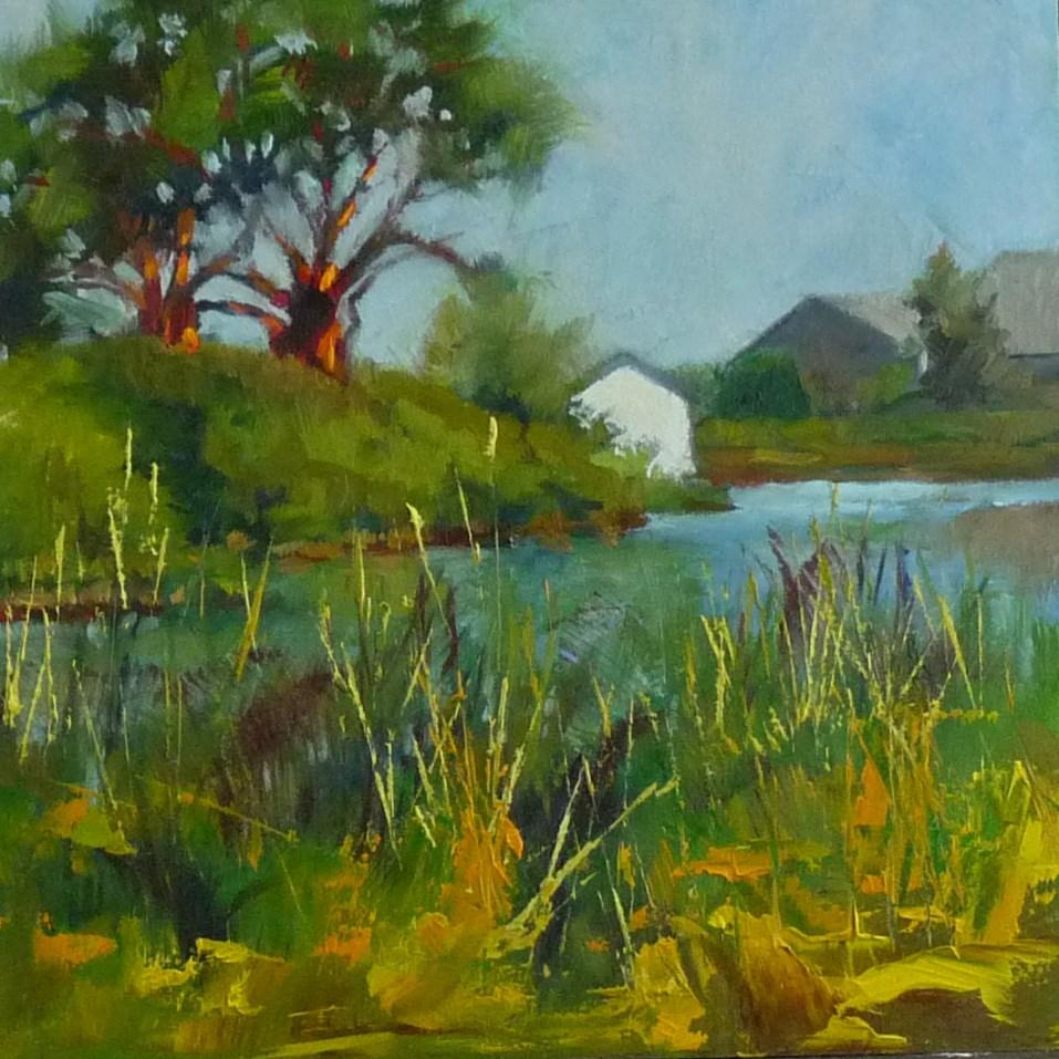 """""""Lagoon Again"""" original fine art by Sharman Owings"""