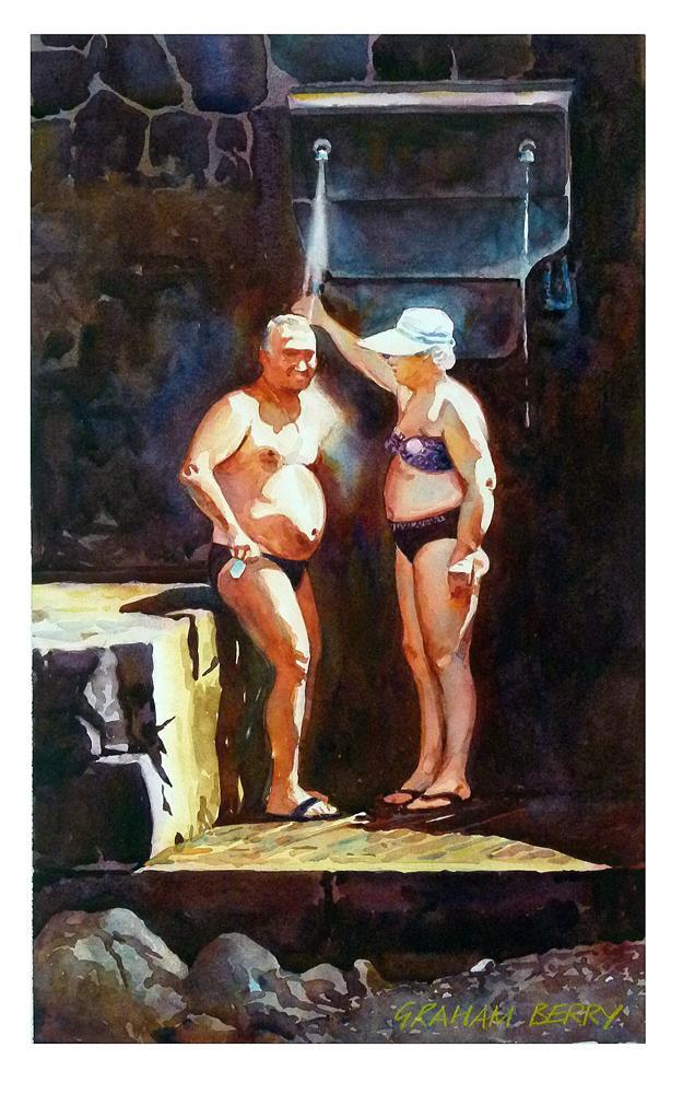 """""""Sun shower."""" original fine art by Graham Berry"""