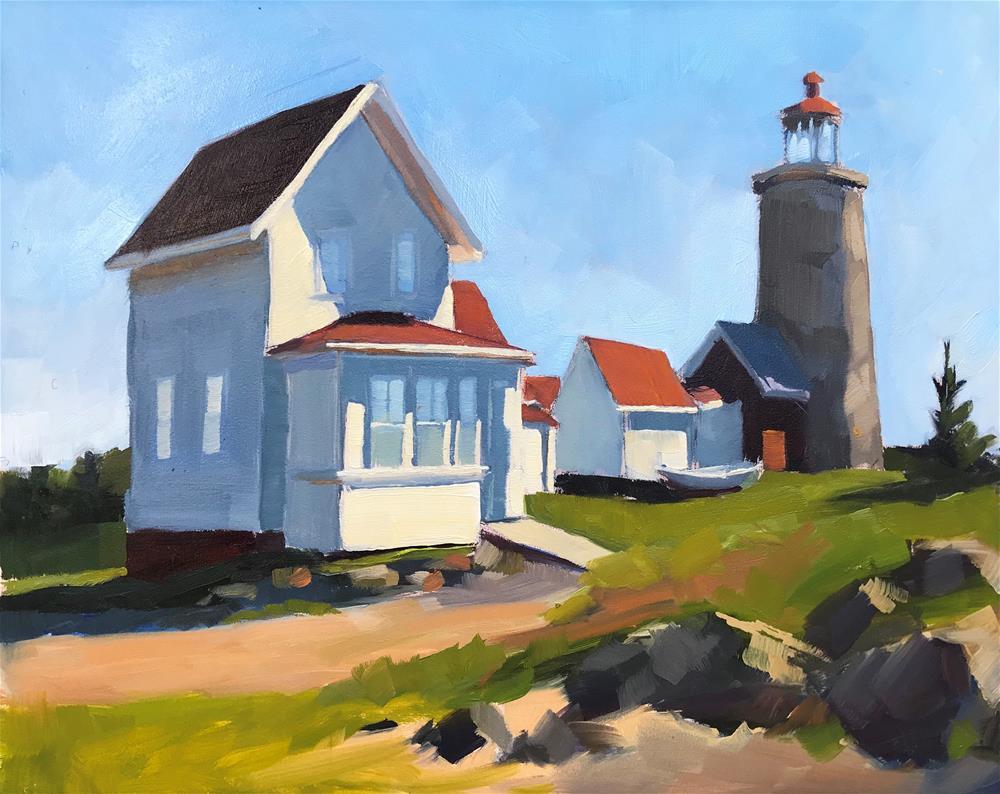 """Monhegan Lighthouse"" original fine art by Sharon Schock"