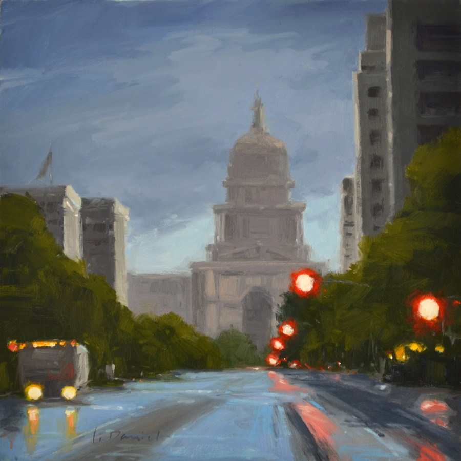 """Bright Lights - No Place Like Home"" original fine art by Laurel Daniel"