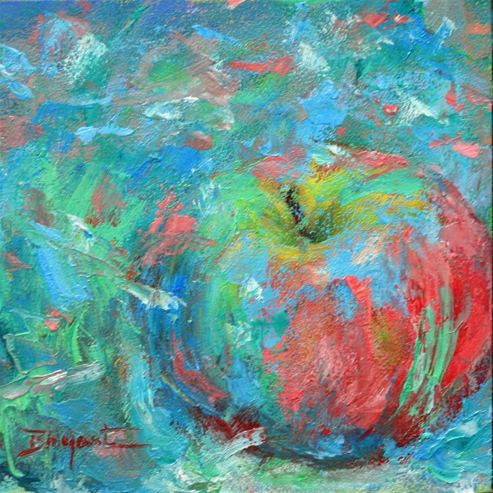 """Party Apple"" original fine art by Debra Bryant"
