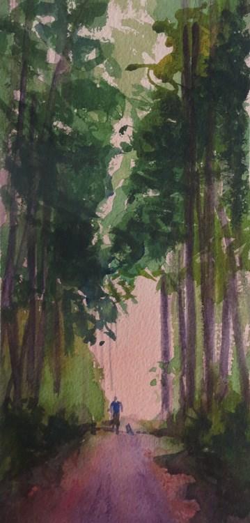 """Washington Park, Anacortes"" original fine art by Katharine Engh"