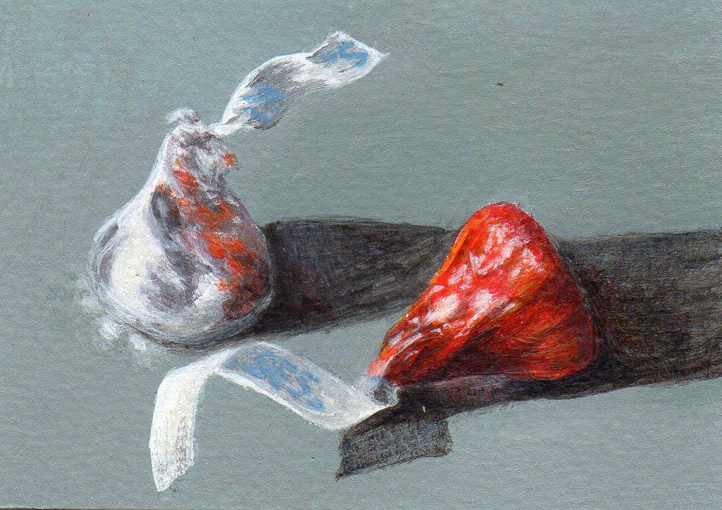 """Kissing Up"" original fine art by Debbie Shirley"