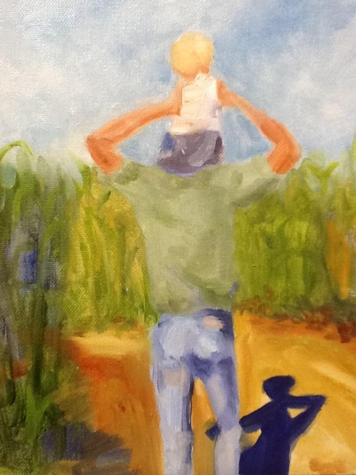 """Through the Maze"" original fine art by Peggy Schumm"