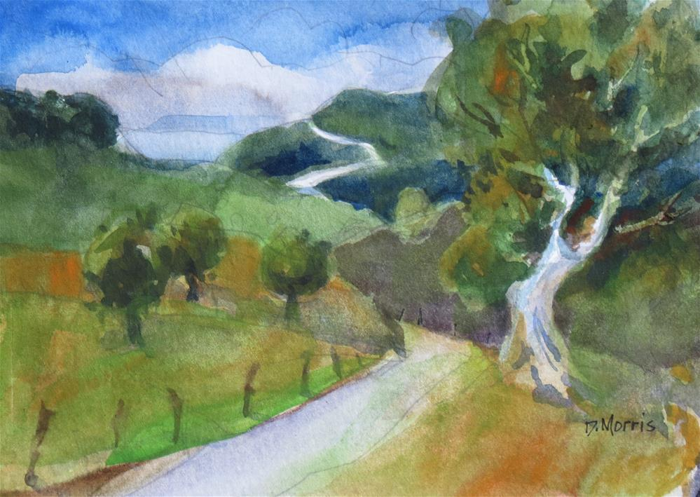 """The Road to the Coast"" original fine art by Dann Morris"
