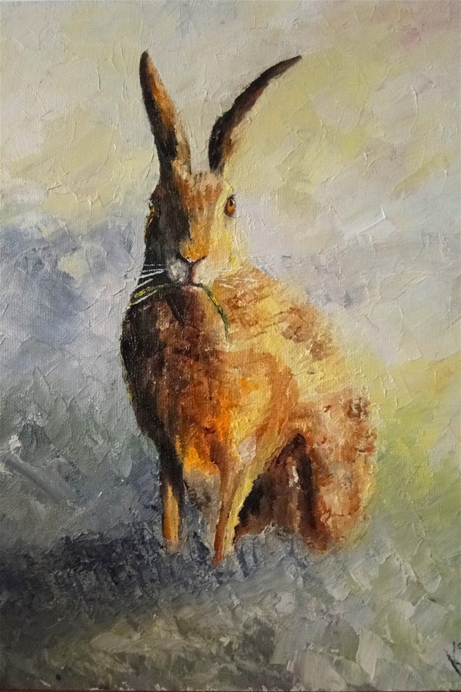 """Easter bunny!"" original fine art by Karen Robinson"