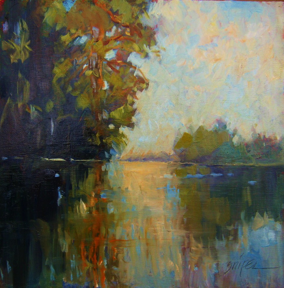 """""""Deep Water"""" original fine art by Connie Snipes"""