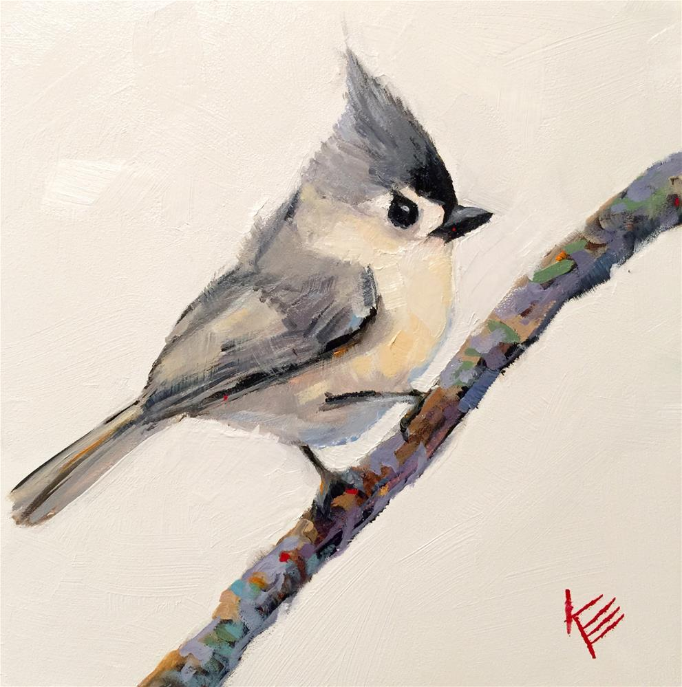 """Morning Tweet"" original fine art by Krista Eaton"