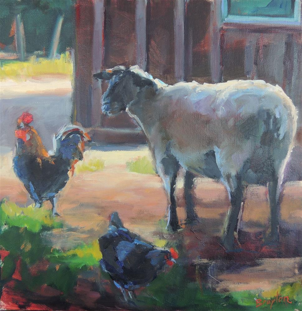 """Sheep Study"" original fine art by Wendy Brayton"