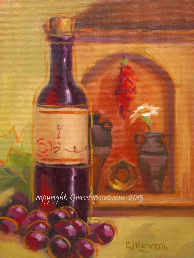 """Tuscana Vino"" original fine art by Maresa Lilley"