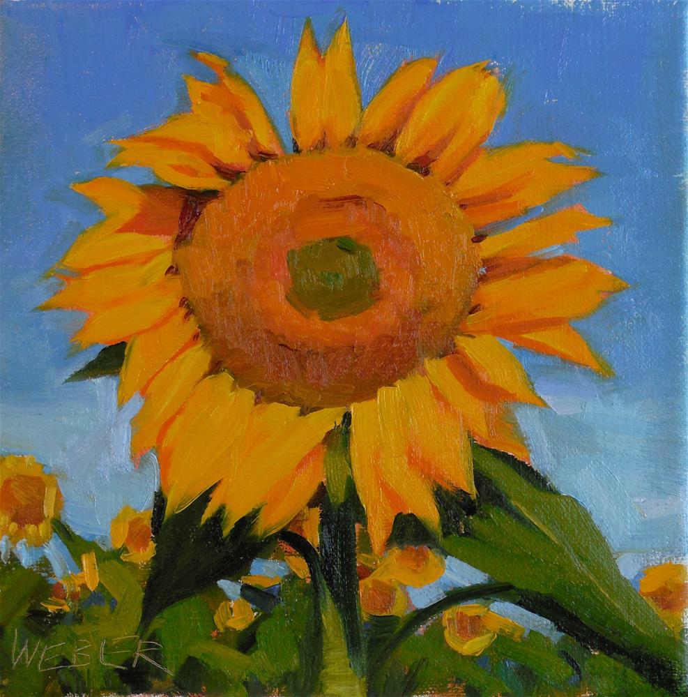 """Sunflower field"" original fine art by Kathy Weber"