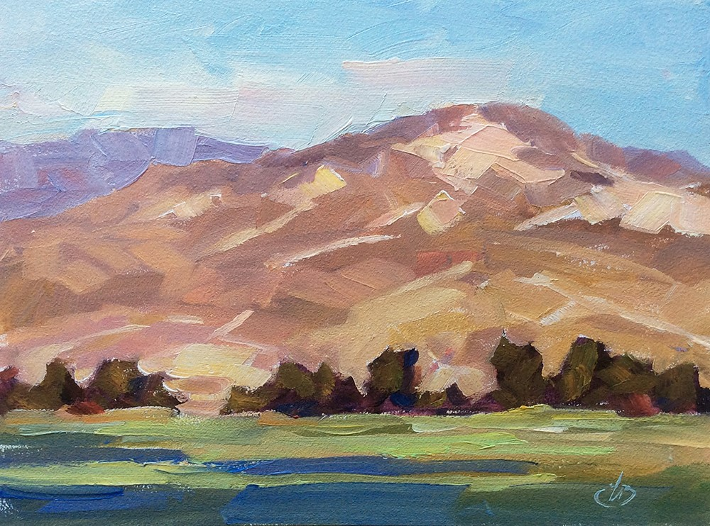 """SCENIC CALIFORNIA FOOTHILLS"" original fine art by Tom Brown"