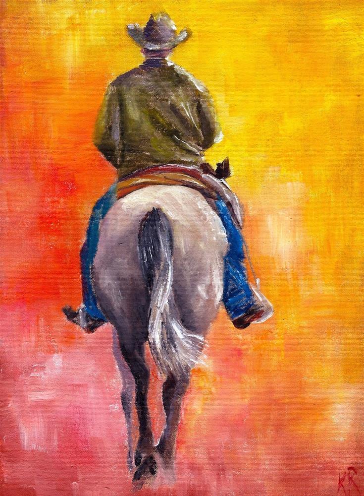 """2013 rides out of town"" original fine art by Karen Robinson"