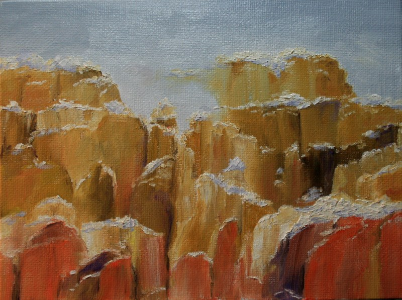 """Canyon Snow"" original fine art by Jean Nelson"