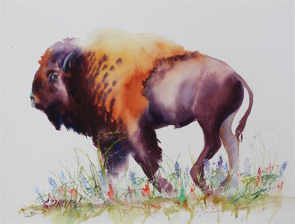 """Where the Buffalo Still Roam"" original fine art by Colleen Drury"