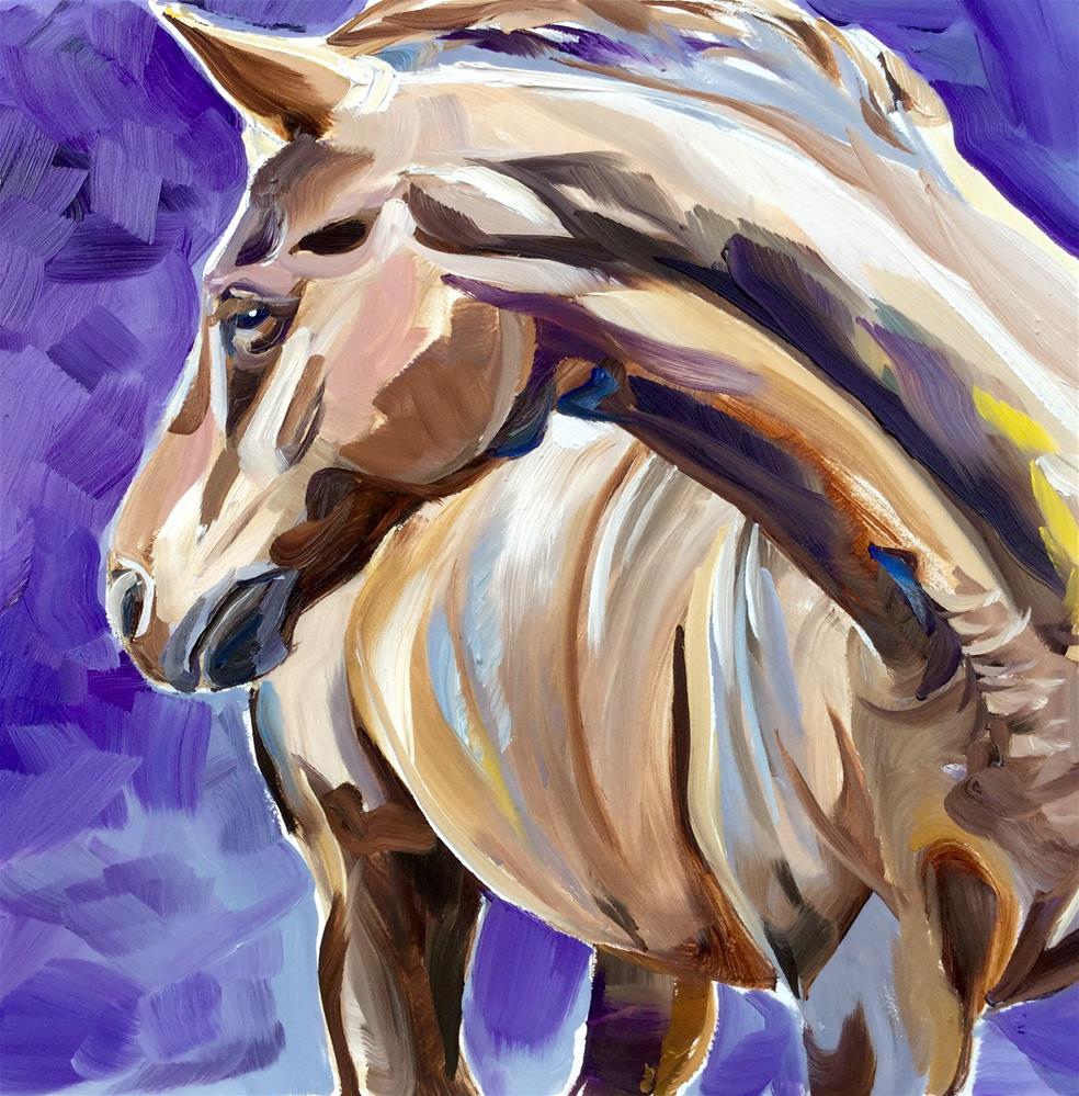 """""""The Color Purple"""" original fine art by Lauren Kuhn"""