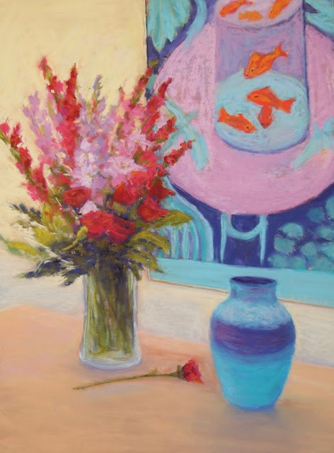 """""""A Gift of Beauty and Matisse"""" original fine art by Sharon Lewis"""