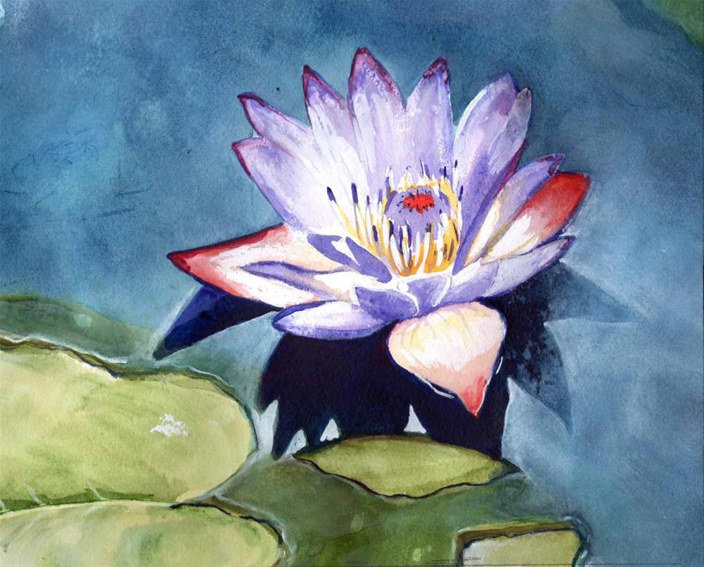 """""""Water Lily #2"""" original fine art by Bunny Griffeth"""