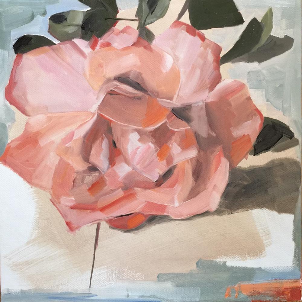 """295 Perfect Rose"" original fine art by Jenny Doh"