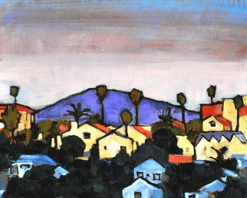 """""""Sunset on the Hills, North Park, San Diego, California"""" original fine art by Kevin Inman"""