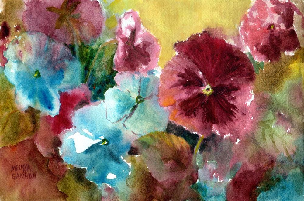 """Pansy Medley"" original fine art by Melissa Gannon"