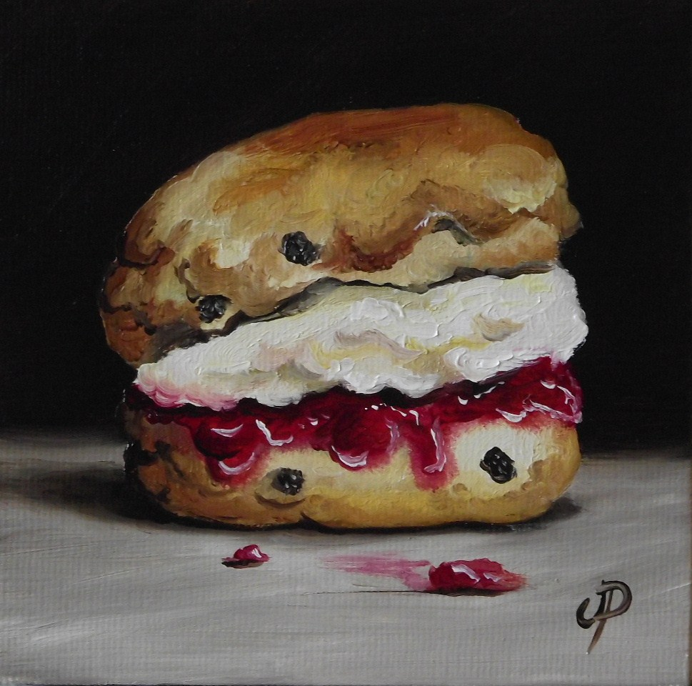 """Little Scone"" original fine art by Jane Palmer"