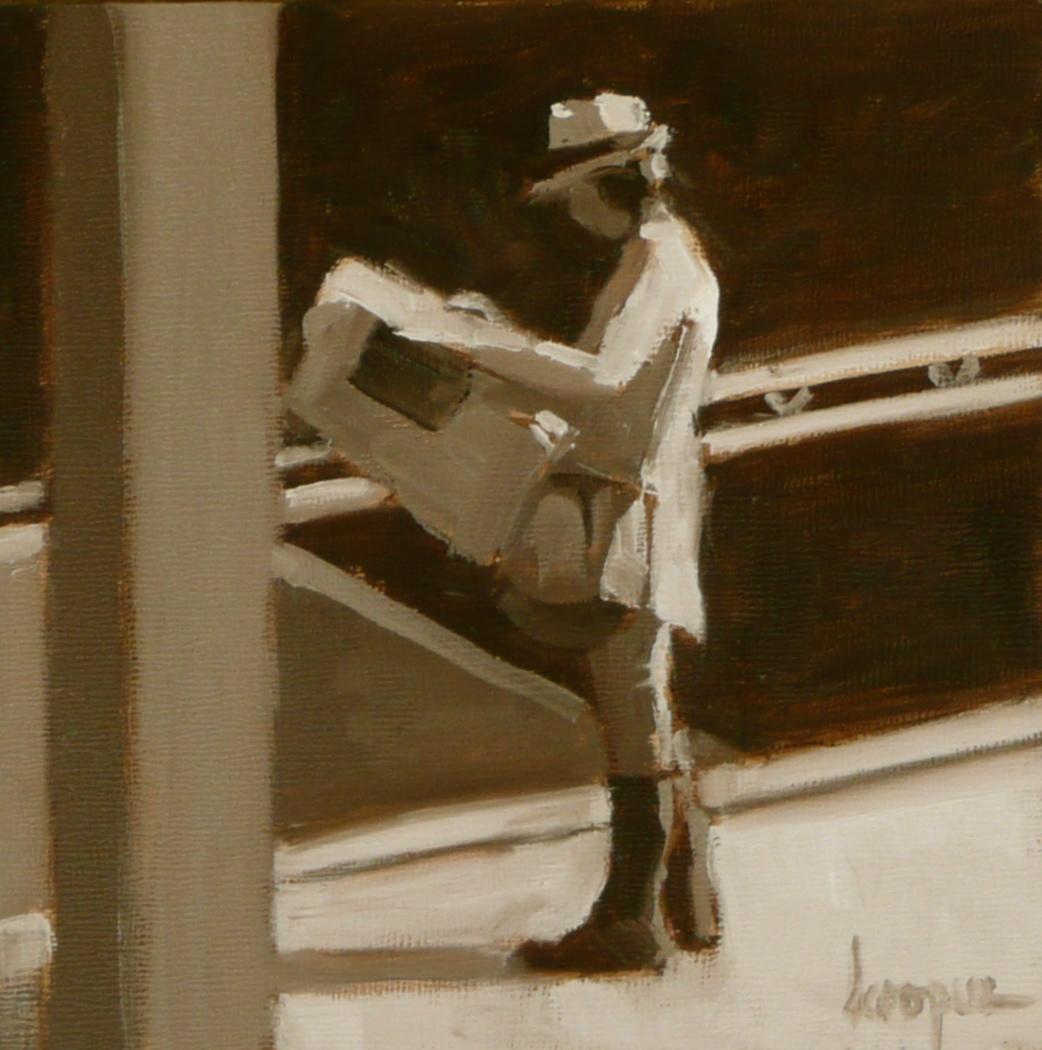 """Jaunty"" original fine art by Dana Cooper"