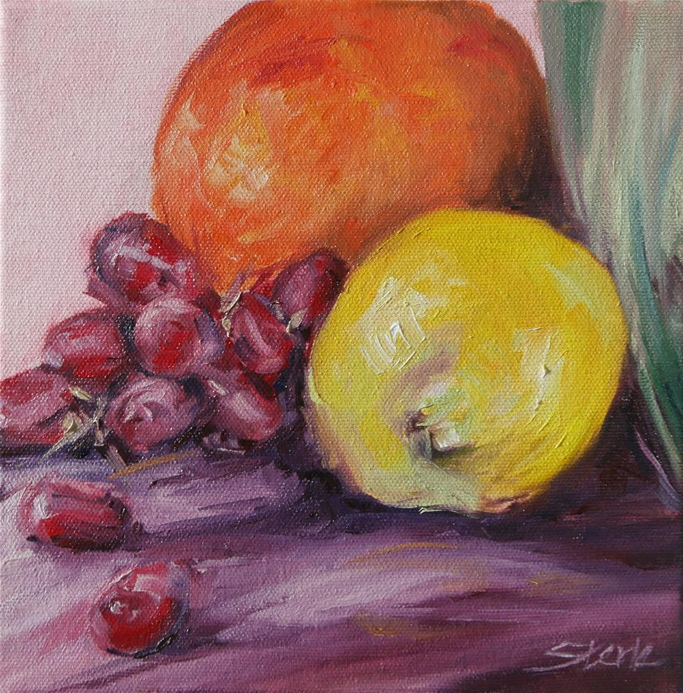 """The Lemon is Yellow"" original fine art by Susan Sterle"