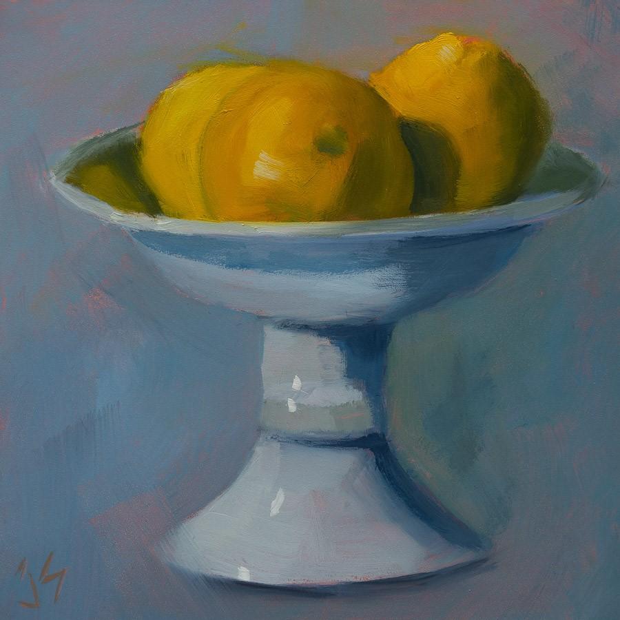 """""""Oranges"""" original fine art by Johnna Schelling"""